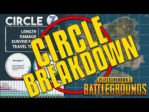 Circle Breakdown - Times, Damage, Travel Time and Tips | PUBG