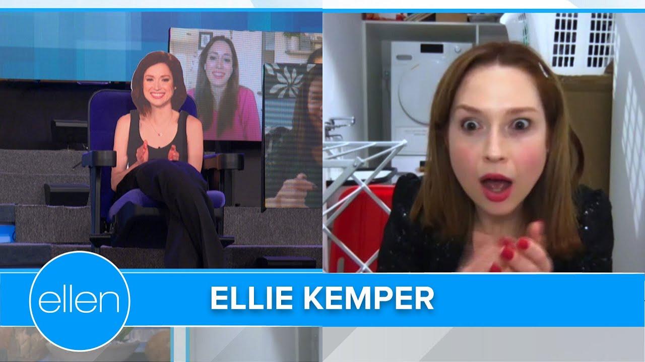 Ellie Kemper Transforms into a French Dog Walker
