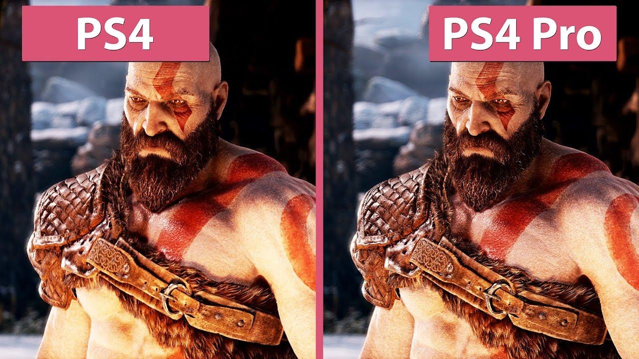 [4K] God of War – PS4 vs  PS4 Pro Frame Rate Test & Graphics Comparison