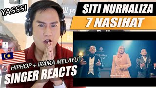 7 Nasihat - Dato' Sri Siti Nurhaliza, Kmy Kmo & Luca Sickta (Official Music Video) | SINGER REACTION