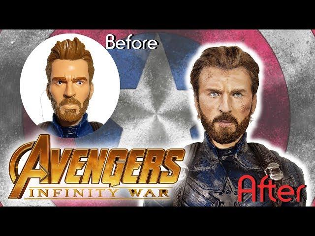 Captain America Custom Doll Avengers Infinity War // Repaint DIY