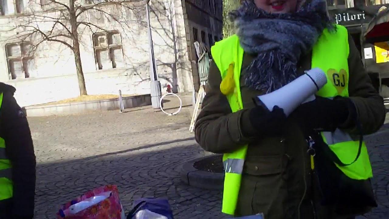 Stand des Gilets Jaunes, Liège 3 février 2019
