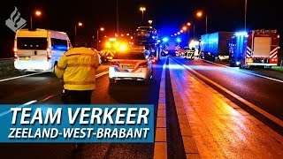 Accident on the highway. Along with team traffic. Police ZeelandWestBrabant