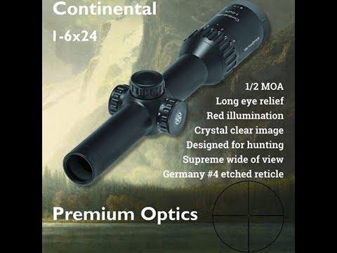 Vector Optics Continental 1-6x24 AR15 308 Tactical 1/2 MOA Hunting Scope SCRD-23
