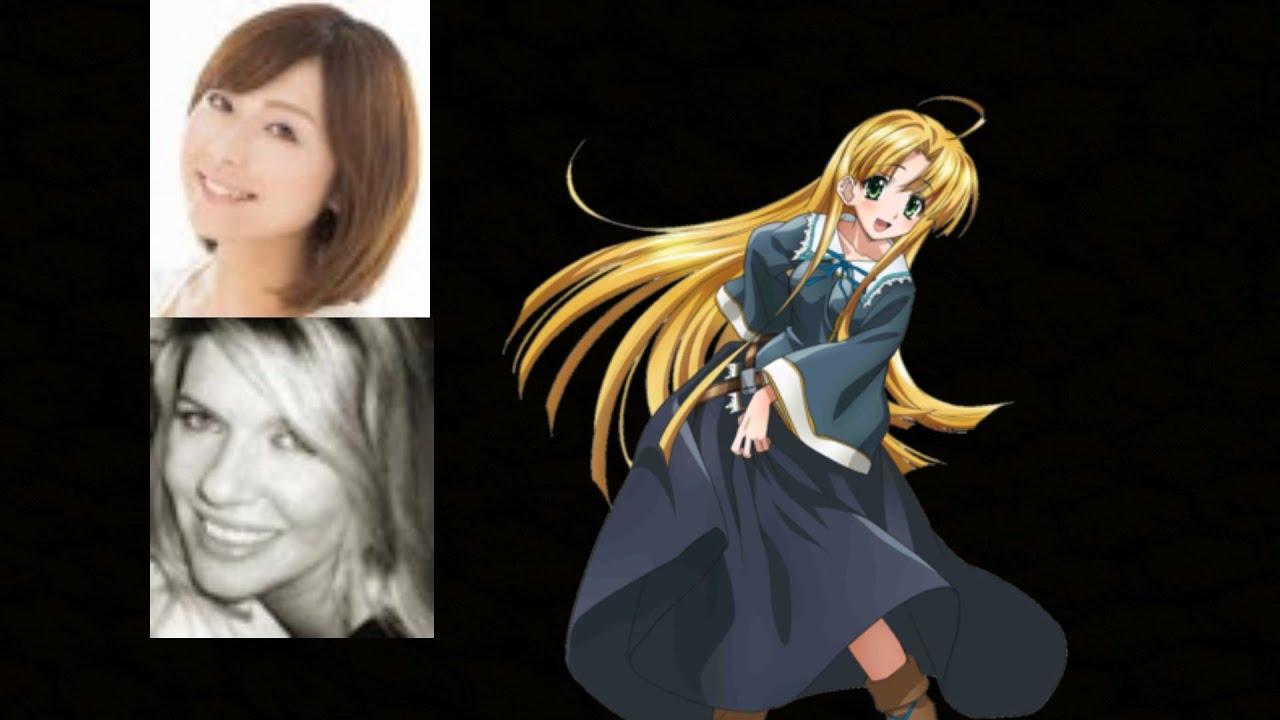 anime voice comparison asia argento high school dxd