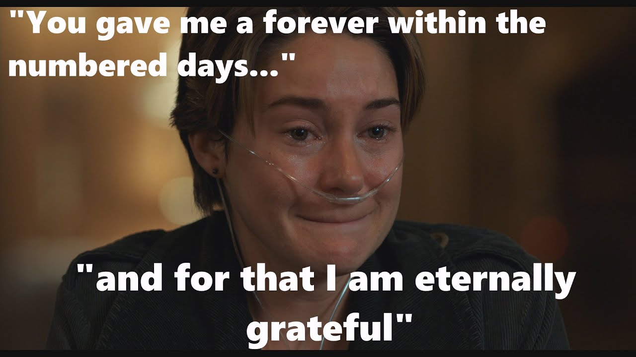 Download HAZEL GRACE READS GUS EULOGY FAULT IN OUR STARS ULTRA HD SHEILENE WOODLEY AUGUSTUS DEATH FROM CANCER