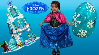 PRINCESSES ELSA AND ANNA TOY PLAY | Surprise Egg | Lego Castle | Princesses In Real Life Kiddyzuzaa