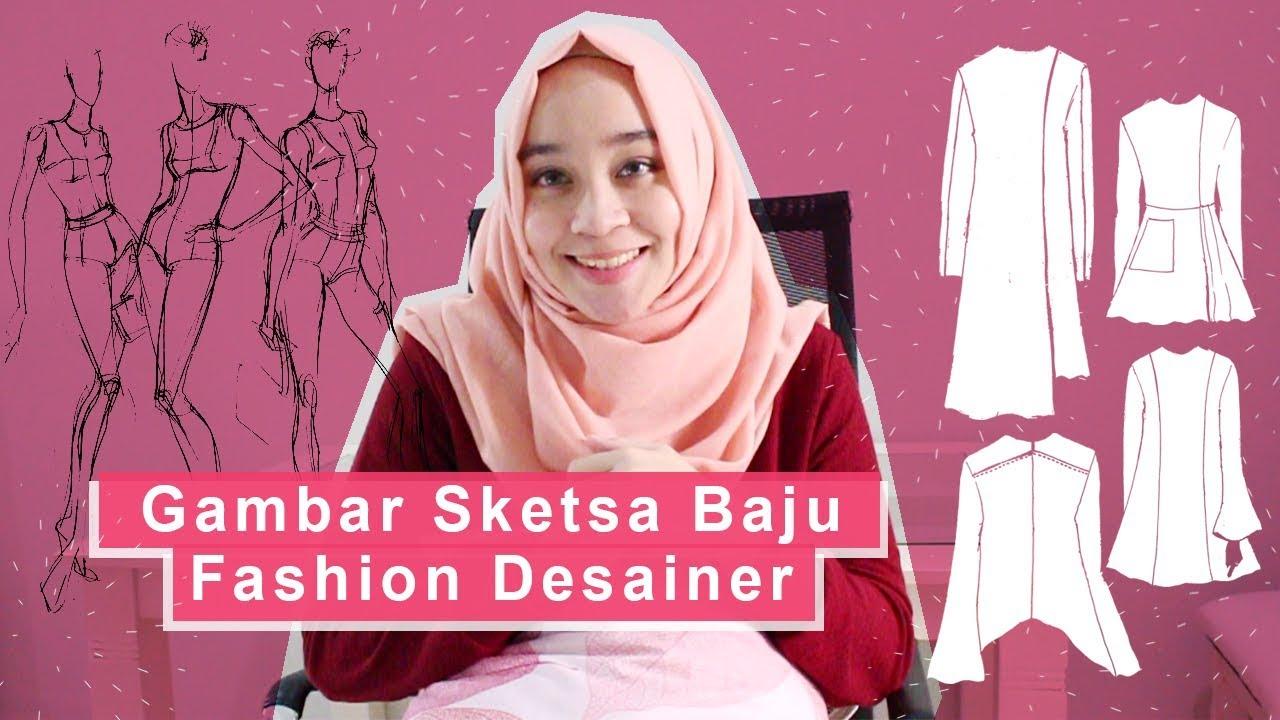 Gambar Sketsa Baju Fashion Desainer