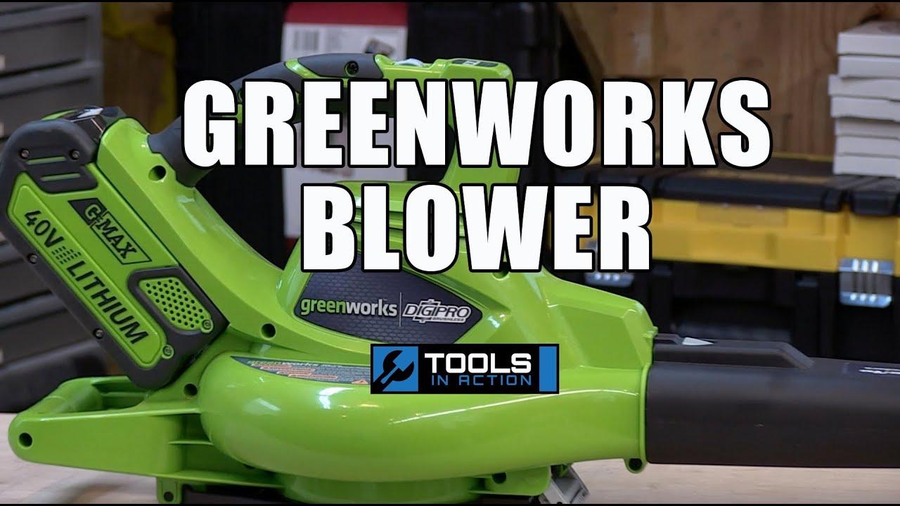 Greenworks Brushless 40v Digipro Brushless Blower Vac