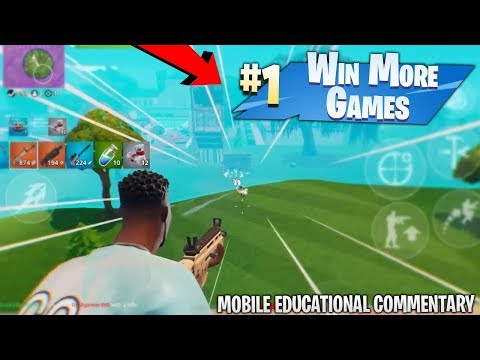 HOW TO WIN MORE FORTNITE MOBILE GAMES! High Kill & Game Winning Strategies - Educational Commentary