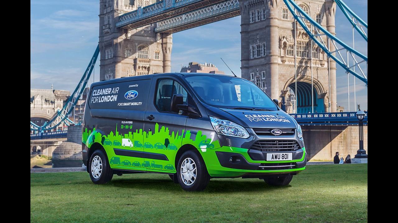 London Trials Ford S New Plug In Hybrid Vans 2017 Phev Transit Plugin Van