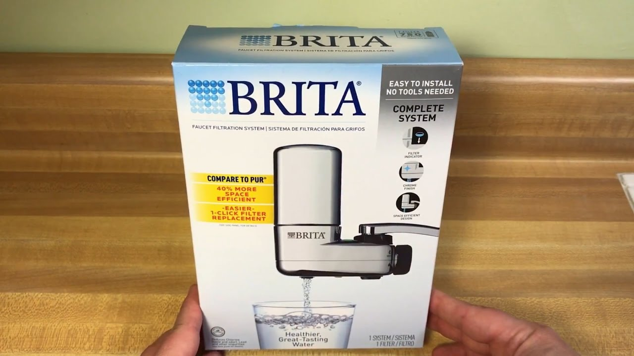 brita on tap faucet water filtration system chrome