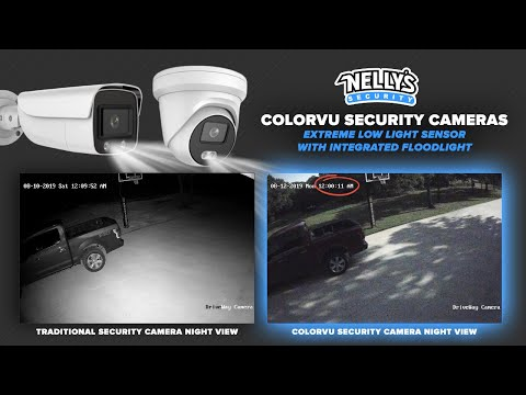 NiteColor IP Ultra Low Light Security Cameras W/ Built In Floodlight