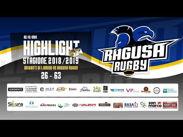 Highlight Briganti vs Ragusa Rugby 26 - 63