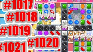 Candy Crush Saga Level 1017, 1018, 1019, 1020 And 1021 NEW  | Complete!