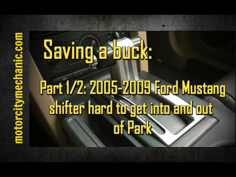 Part 1/2: How to fix your Ford Mustang shifter that's hard to get into and out of Park
