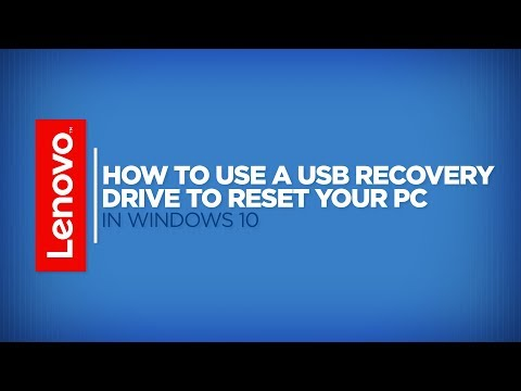 How To - Use A USB Recovery Drive To Reset Your PC In Windows 10