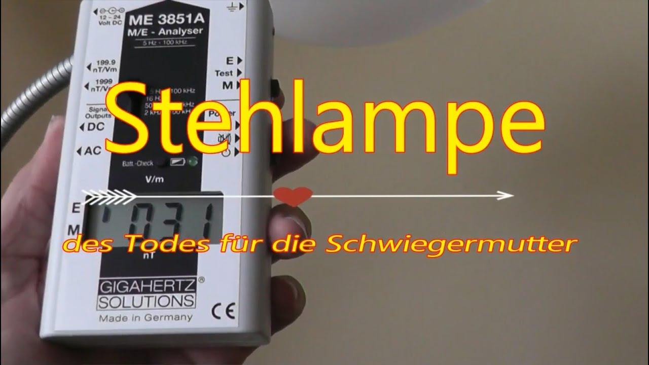 Elektrosmog Messen An Der Stehlampe Tips Zum Abschirmen Youtube