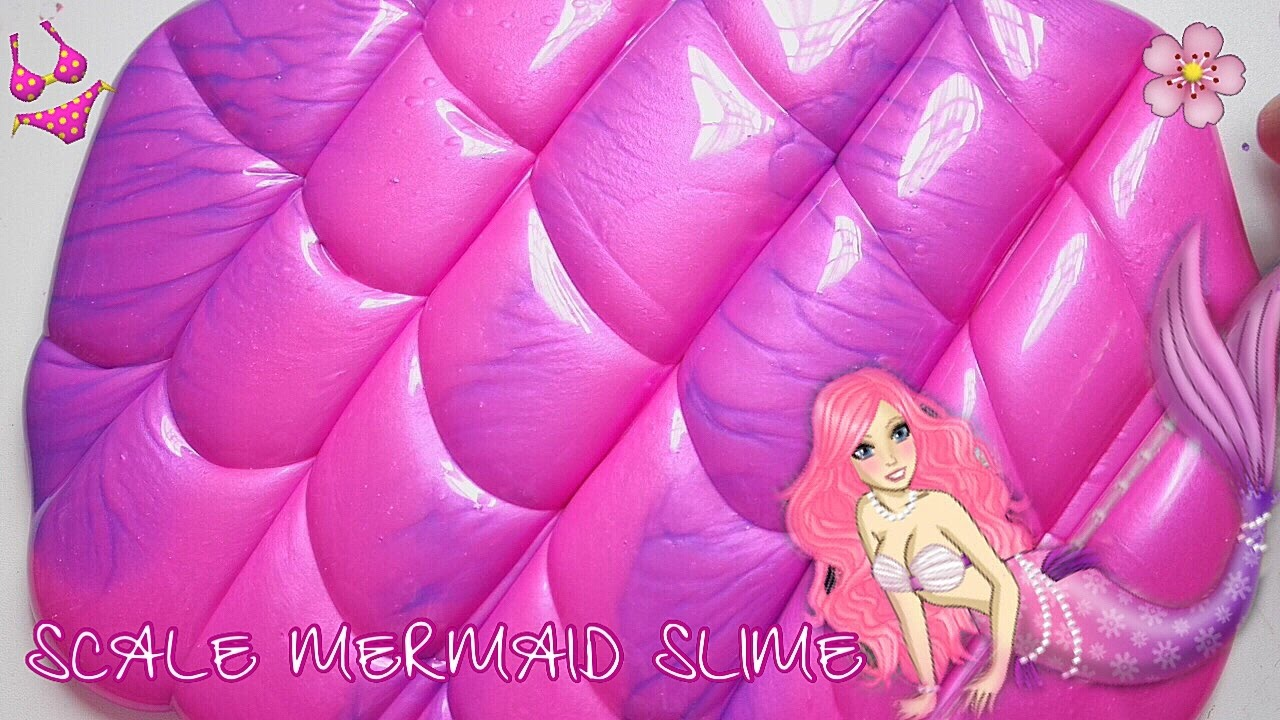 PERFECT! SCALE MERMAID SLIME ? NEON HOLOGRAM TWIN DUO COLOR SIMPLE TUTORIAL SLIME - BHS ...