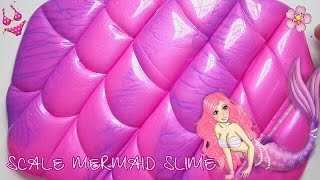 PERFECT! SCALE MERMAID SLIME ? NEON HOLOGRAM TWIN DUO COLOR  SIMPLE TUTORIAL SLIME - BHS INDONESIA
