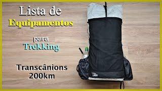 Checklist para Trekking (Lista de Equipamentos) - Transcânions 200km