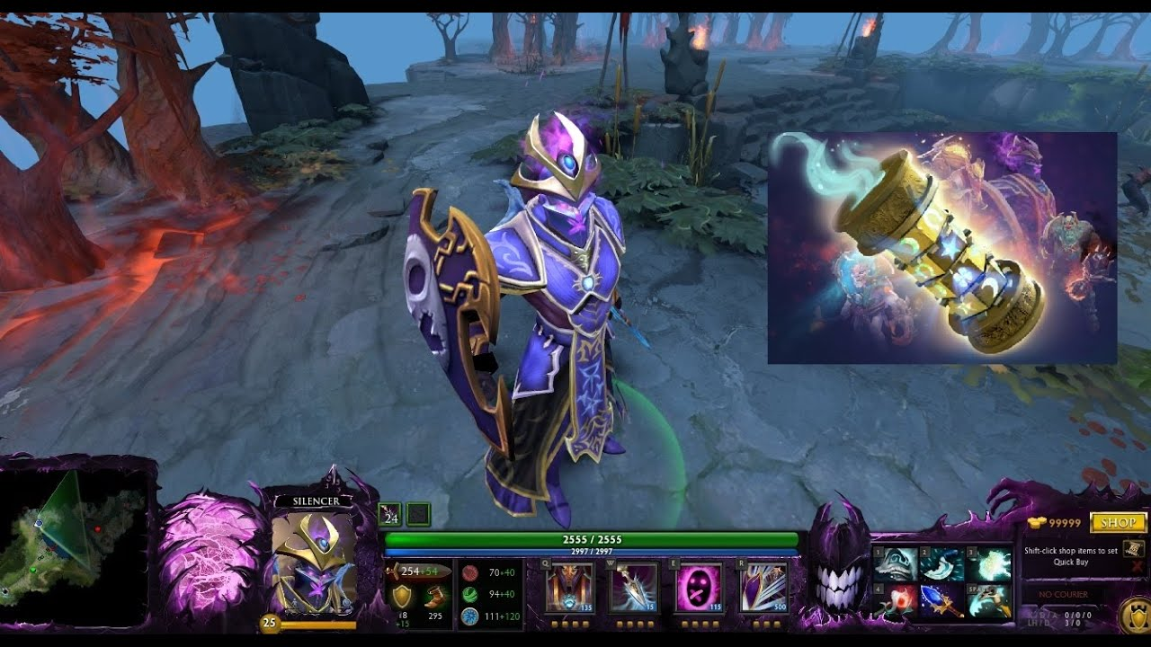 dota 2 silencer immortal dam arakan muzze mix set with heirlooms