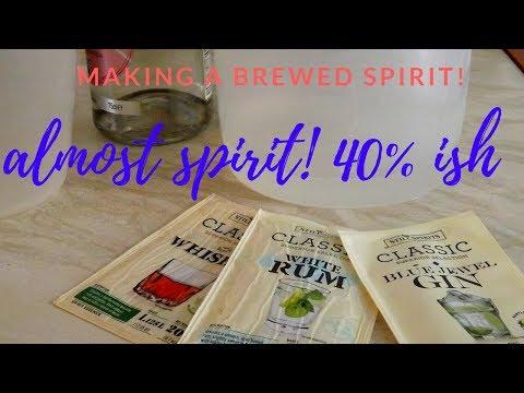Making Brewed Spirits 40% Ish
