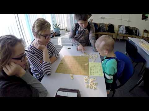 A typical day in the Minsk shogi club