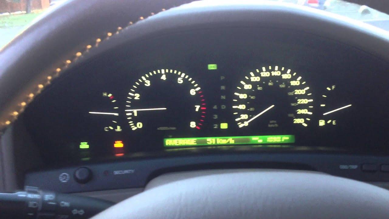 1998 Lexus LS 400 0 60 acceleration whistle
