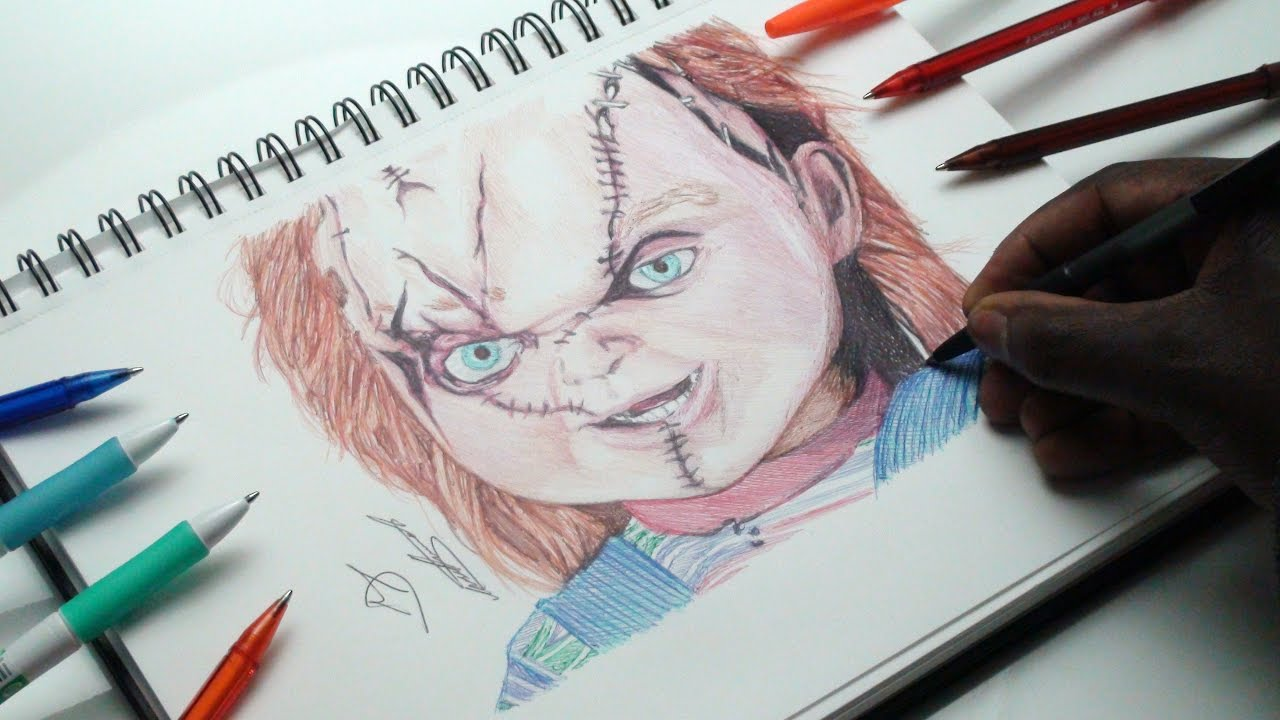 Drawing Chucky The Doll