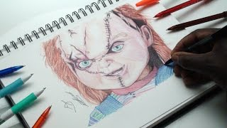 Drawing Chucky Doll