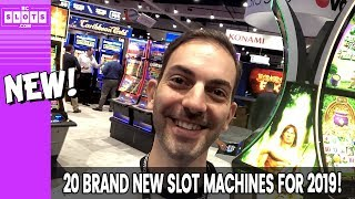 🔴🎰 PREMIERE of 20 BRAND NEW 2019 SLOT MACHINES ✪ BCSlots LIVE from NIGA