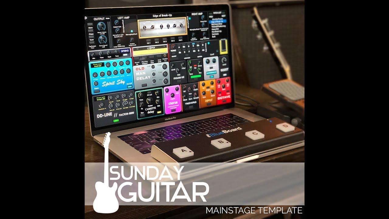Sunday Guitar- MainStage Worship Guitar Template — MainStage Patches and  Templates from Sunday Sounds