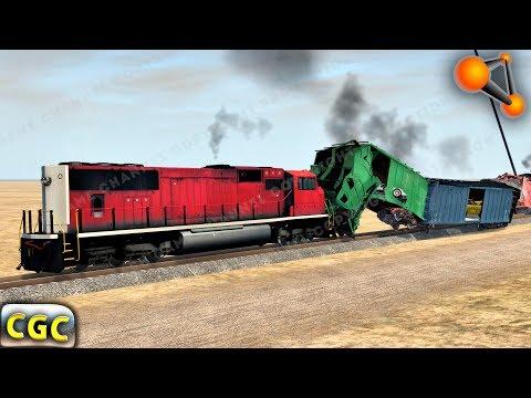 Railroad Crash testing My new Train Mods BeamNG Drive