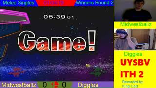 UYSBVITH 2 - Melee Singles - Winners Round 2 - Midwestballz vs Diggles