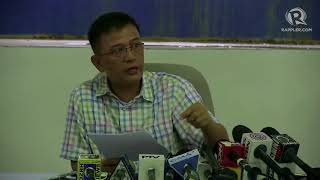 Faeldon holds presscon to clear his name against corruption allegations