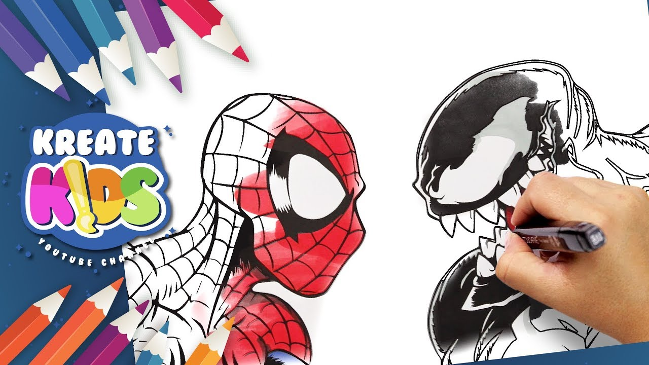 Marvel Spiderman Vs Venom Disegni Da Colorare Coloring Pages