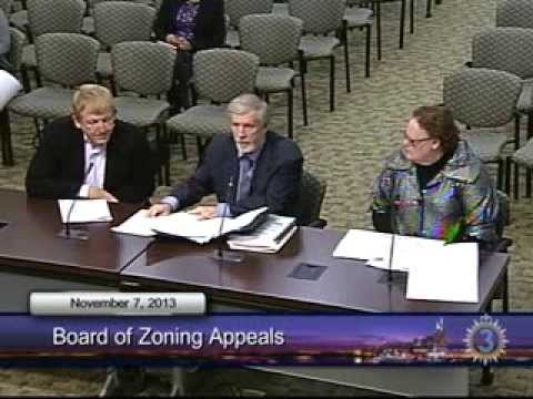 11/07/13 Board of Zoning Appeals Meeting