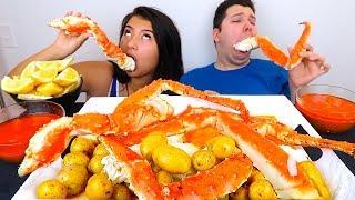 Blove's Sauce • King Crab Legs • MUKBANG