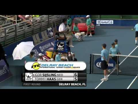 ATP 2013 Delray Beach R1 Haas vs Sijsling