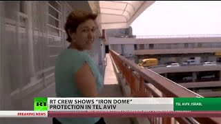 """Iron dome"" in action: Rare footage of Hamas missiles being intercepted in Tel Aviv"