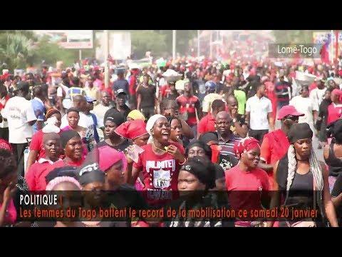 Les femmes du Togo battent le record de la mobilisation ce samedi 20 janvier