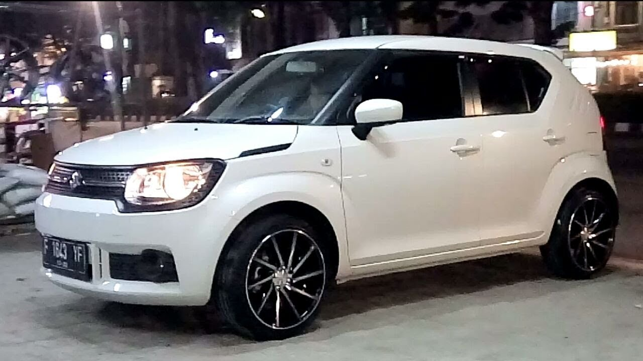 modifikasi new suzuki ignis use vossen cvt wheel youtube. Black Bedroom Furniture Sets. Home Design Ideas