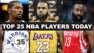 Top 25 NBA Players Right Now