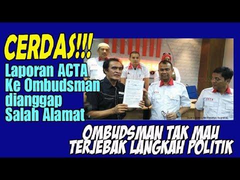 Cerdas! Laporan ACTA Ke Ombudsman Dianggap Salah Alamat, Ombudsman Tak Mau Terjebak Langkah Politik