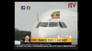 Pope ends Uganda trip, heads to Central African Republic