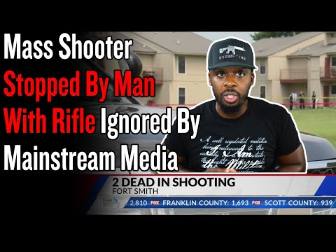 Attempted Mass Shooter Stopped By Man With Rifle Ignored By Mainstream Media