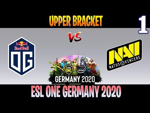 OG Vs Navi Game 1 | Bo3 | Upper Bracket ESL ONE Germany 2020 | DOTA 2 LIVE