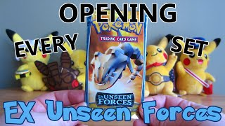 Opening EVERY Pokémon TCG Pack! (1998-2014) - EX Unseen Forces