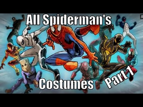 All Spider-Man's Costumes Part 1